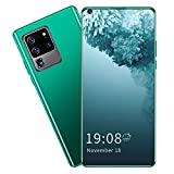 Unlocked Smartphones, 6.82' Unlocked Phone with Face Recognition 2GB+16GB Dual Cameras Dual Sim Unlocked Cell Phones with WiFi Blueteeth FM GPS 128GB Extension for Android 6.0(Green)