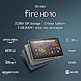 All-new Fire HD 10 tablet, 10.1', 1080p Full HD, 32 GB, latest model (2021 release), Black
