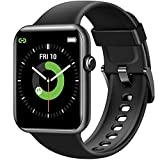 Letsfit IW2 Smart Watch, 1.55 Inch LCD Color Screen Smartwatch for Android and iOS Phones, Heart Rate Monitor & Blood Oxygen Saturation, 5ATM Waterproof Pedometer Fitness Tracker for Men Women