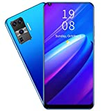 Unlocked Smartphones, 6.72' Unlocked Phone With Face Recognition 2GB+16GB Quad-Core Dual Cameras Dual Sim Unlocked Cell Phones With Wifi Blueteeth FM GPS 128GB Extension for Android 8.1(blue)