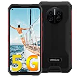 DOOGEE V10 5G Rugged Smartphone Unlocked, Android 11 MTK Dimensity 700 Octa-core 8GB+128GB, 48MP Rear Camera + Infrared Thermometer, 6.39' FHD+ Screen 8500mAh Battery 5G Rugged Phone Support 5G HiFi